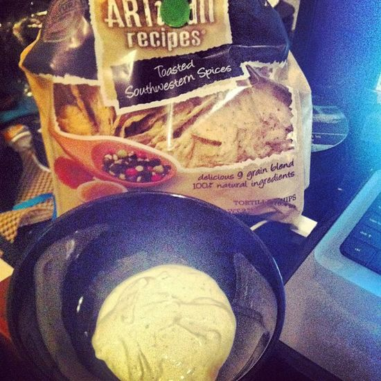 Late night snackin. Chips Allnatural Tostitos Ranch