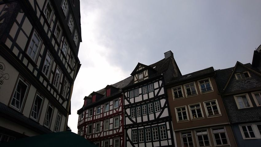 House fronts of Wetzlar. Wetzlar Germany Architecture House Front Cityscape Urban Landscape Urban Beauty History Culture Europe Tradition Craft Clouds And Sky Gray Sky Clouds Above City Window History Sky Architecture Building Exterior Built Structure