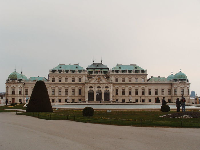 Facade Of Historic Belvedere Palace Against Sky