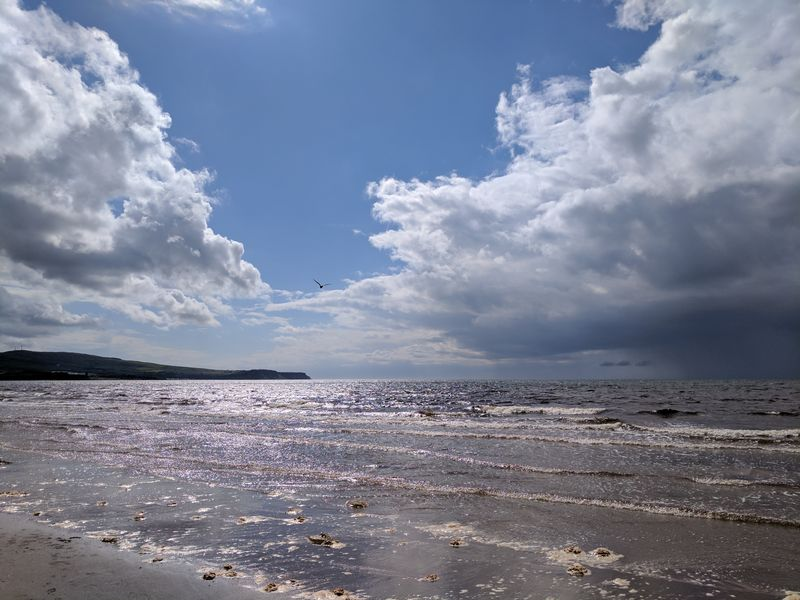 Cloud - Sky Beach Blue Sky Sea Sand Nature Tranquility Water Outdoors Day Landscape No People Beauty In Nature Scenics Horizon Over Water Awe Summer