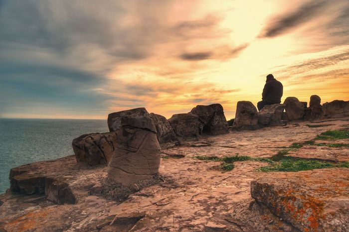 Cloud - Sky Sunset No People Outdoors Landscape Sky Day Nature Travel Sea Beachlovers Beachphotography Beach Nature Sunsets Sunset_collection People Silhouette Rock - Object Rock Formation Popular Beauty In Nature Water Popular Photos Divine Beauty