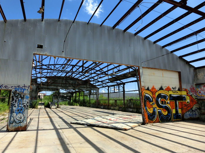 Architecture Bridge - Man Made Structure Building Exterior Built Structure Day Metal No People Outdoors Rail Transportation Sky Transportation Wood - Material