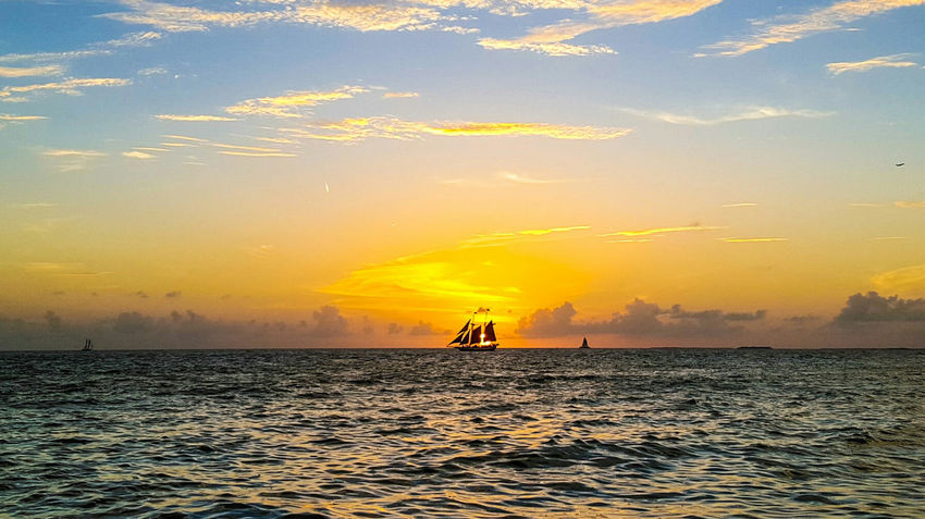Sunset in the keys Beach Life Oceanside Enjoying Life Ocean Sand & Sea Cast Away Beachphotography Florida Sky And Clouds Landscape Sky_collection Perfect Sky Colors Fire In The Sky Water Reflections Sunset Sailing Sailboat Key West Island Life