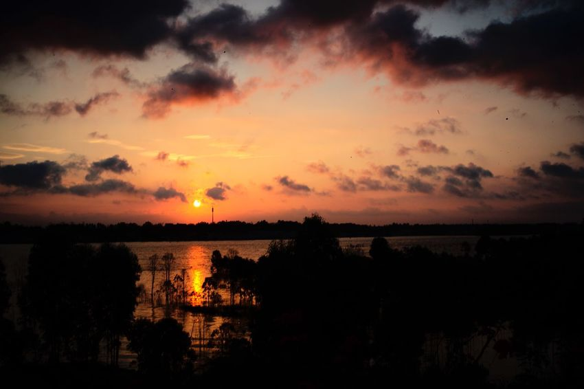 Sky Sunset Scenics - Nature Beauty In Nature Cloud - Sky Tranquil Scene Tranquility