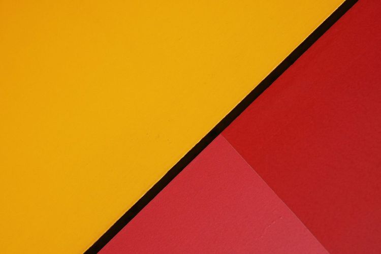 Yellow Red Multi Colored Geometric Shape Abstract Backgrounds Angle Abstract color palette