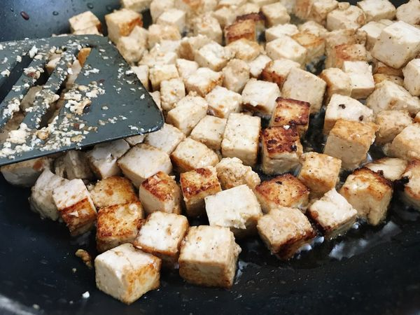 Tofu Fried Tofu Frying Frying Pan Food And Drink Food Freshness Ready-to-eat Close-up No People Healthy Eating Indoors  Day