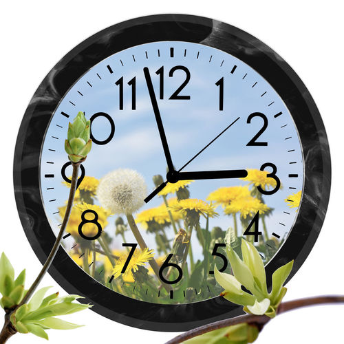 Close-up of clock against white background