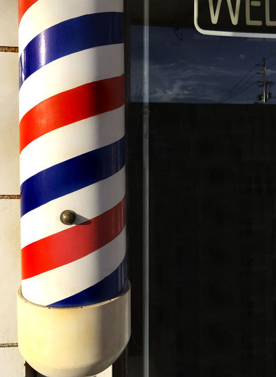 Barber pole in Denver Colorado Barber Barber Pole Barber Shop Colorado Denver Outdoors Red Shop Shopping Striped