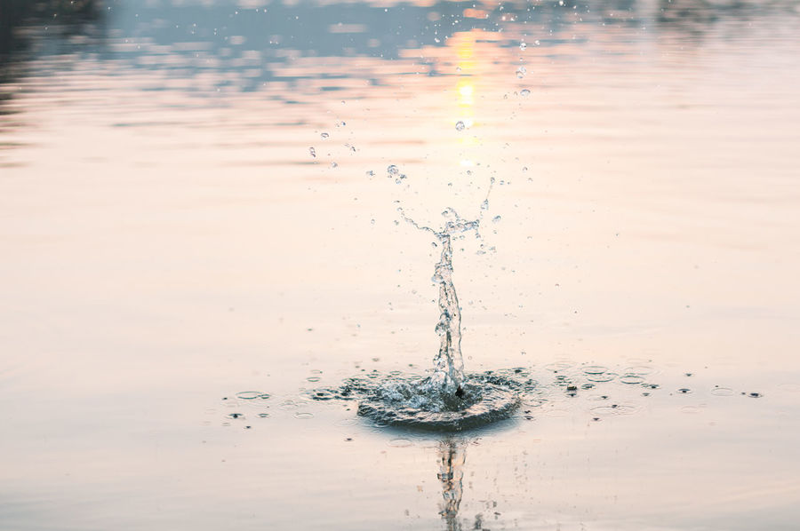 Dancer Backgrounds Beauty In Nature Close-up Concentric Day Drop Freshness High-speed Photography Motion Nature No People Outdoors Purity Reflection Splashing Sunset Water