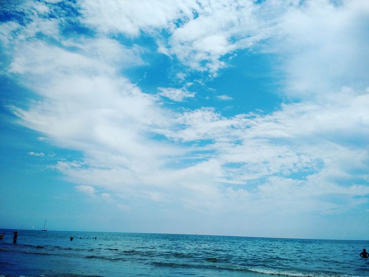 Sea Blue Water Sky Cloud - Sky Beach Scenics Nature Outdoors Tranquility Horizon Over Water Beauty In Nature Tranquil Scene No People Day Landscape Sitges Barcelona España Beauty In Nature Blue Sea Clouds And Sky