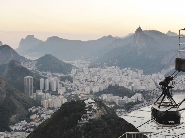 Brazil Rio De Janeiro Mountain Sky Building Exterior Built Structure City Architecture Mountain Range Transportation Cityscape