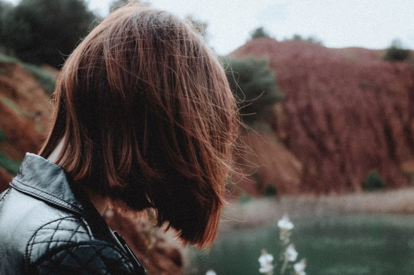 EyeEm Selects One Person Headshot Real People Rear View Portrait Focus On Foreground Hairstyle Long Hair Outdoors Women Human Hair Hair Lifestyles Adult Nature