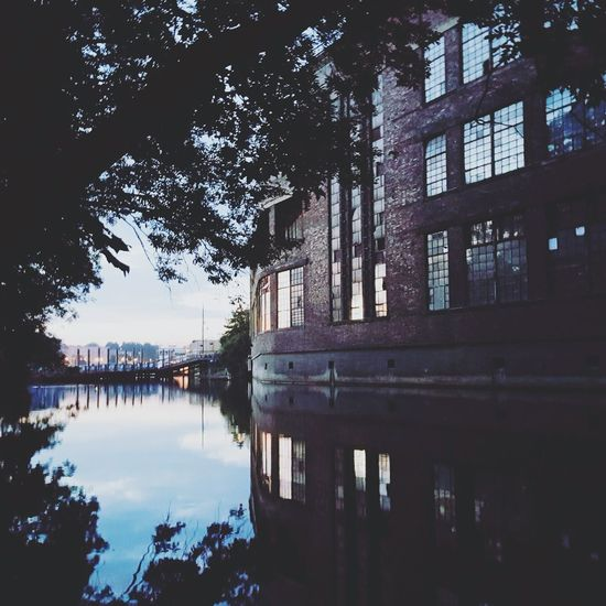 B E R L I N Built Structure Water Architecture Tree Building River Day Morning Light Morning Sky Party Hangover Ipse Club Calm City Berlin Berlin Kreuzberg Canal Reflection Wanderlust Travel Travel Photography City Life Sky Sunrise - Dawn