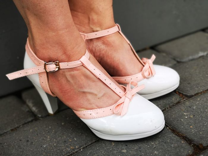Pretty shoes and cobble stones Woman's Feet Pink And White Shoes Street Photography Pair Unedited Color Photo Things That Go Together Cobblestones Pretty Shoes And Cobble Stones Female Feet Pretty High Heel Shoes Low Section Human Leg Standing Pink Color Limb Close-up The Mobile Photographer - 2019 EyeEm Awards