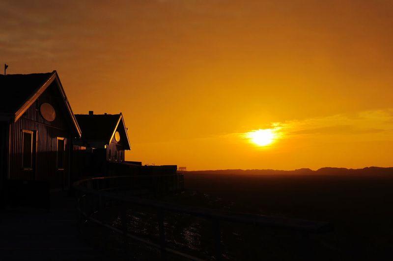 Sunset Sky Orange Color Architecture Silhouette Built Structure Nature