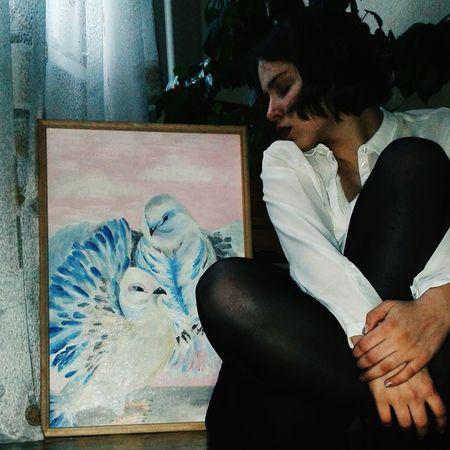 голуби картина типохипстер типохудожник