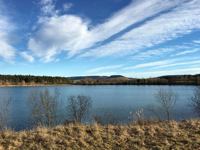 Schönes Wetter hier an Riedsee, doch das ändert nicht daran dass ein Meter Schnee noch viel geiler wäre.