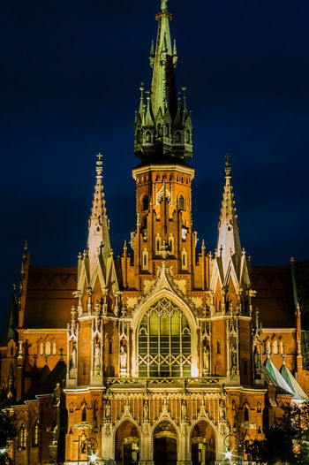 Architecture Built Structure Building Exterior Religion Tower History Façade Spire  Church Illuminated Tall - High Architectural Feature Place Of Worship Church Church Architecture Church Tower Krakow Cracow St Joseph's Church