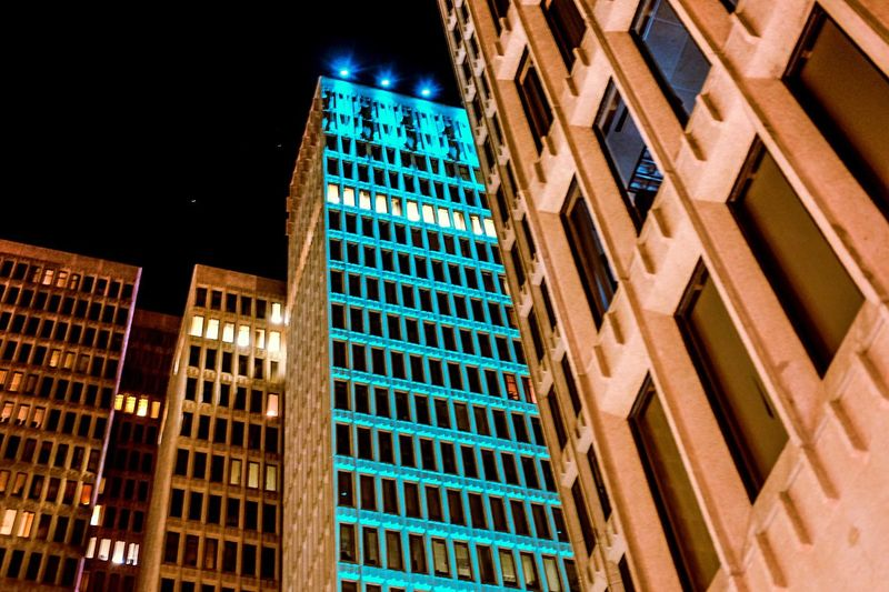 Building Exterior Architecture Low Angle View Built Structure City No People Outdoors Skyscraper Travel Destinations Night Sky Streetphotography Nightphotography Night Photography City Life City Street Cityscapes Lights Buildings Welcome To Black Art Is Everywhere The Street Photographer - 2017 EyeEm Awards