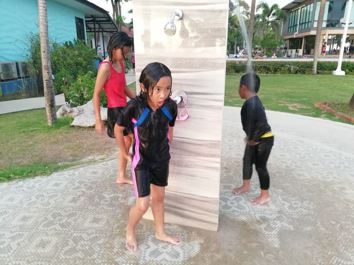 Children enjoy on summer trip 2019,หาดเจ้าหลาว Achi2019 Child Childhood Architecture Real People Girls Females Full Length Women Built Structure Casual Clothing Family Leisure Activity Building Exterior Lifestyles Men Togetherness Emotion Males  Boys Innocence Sister Outdoors