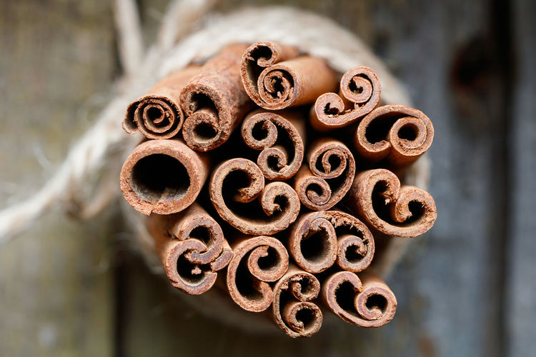 Close-up of cinnamons