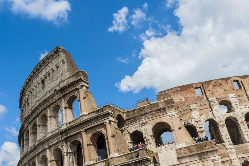 Colosseum against the sky at rome