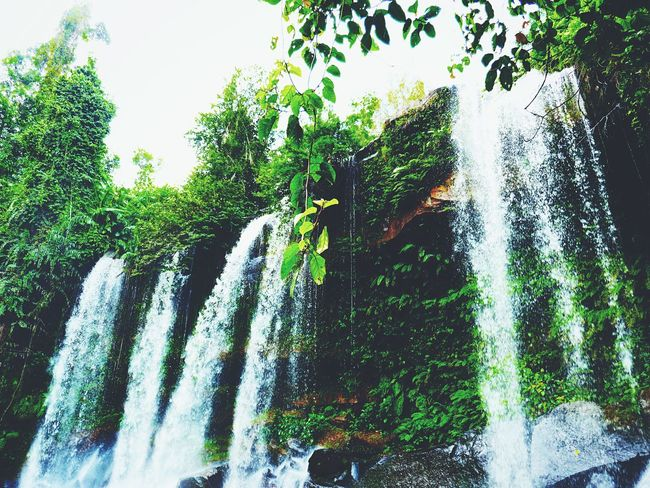 don't go chasing waterfalls. Waterfall Flowing Water Nature Outdoors Forest Phnom Kulen Cambodia Siem Reap