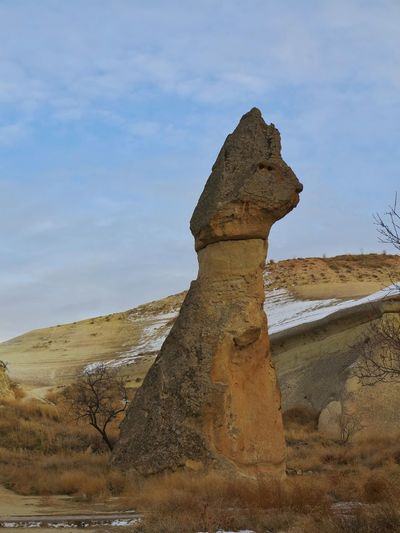 Travel Destinations Outdoors Desert Rock - Object Fairy Chimneys Mushroom Shaped Capadocia Open Air Museum Cappadocia/Turkey Lunar Landscape Unessco World Heritage Site Mushroom Shape Rock Travel Destination Göreme Landmark Landscape Rock Hoodoo Beauty In Nature Senic View Volcanic Rocks Turkey💕 Volcanic Landscape Snow ❄