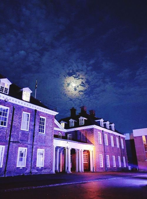 This place can be beautiful Marlborough College Night School Moon Clouds Boarding House Architecture Old Buildings