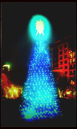 Christmas tree at Jamison Square park