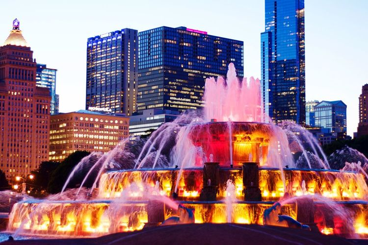 City Built Structure Water City Life Chicago Architecture Fountain Chicago Buckinghamfountain Battle Of The Cities