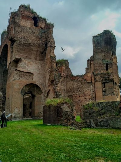 Terme Di Caracalla Caracalla Rome Rome, Italy Ancient Civilization Old Ruin Ancient Castle History Fort The Past Sky Architecture Grass Archaeology Civilization Ancient History Ancient Rome Roman