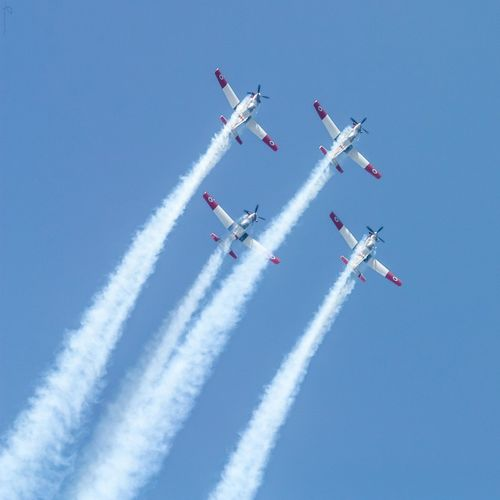 Airshow Airplane Aerobatics Stunt Formation Flying Flying Sky Air Force Performance Smoketrail Telaviv Telavivcity Telavivoftheday Independence Day Independenceday