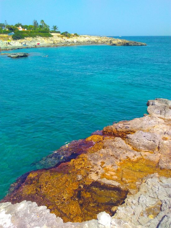 Sicily Syracuse  Fontanebianche EyeEm Selects Sea Beach Water Turquoise Colored Rock - Object Scenics Nature Blue Travel Destinations Outdoors Idyllic Vacations Tranquility Horizon Over Water Sky Landscape Beauty In Nature first eyeem photo