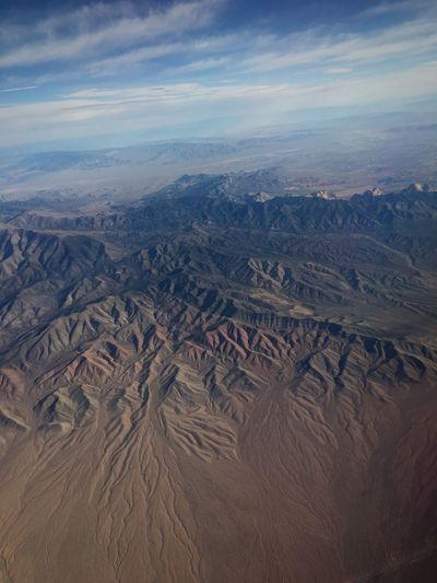 Over America from a plane near Grand Canyon Rugged Sky View Over Arizona Airplane View Arizona Sky Arizona Grand Canyon Sky Nature Tranquility No People Travel Destinations Mountain Scenics - Nature Travel