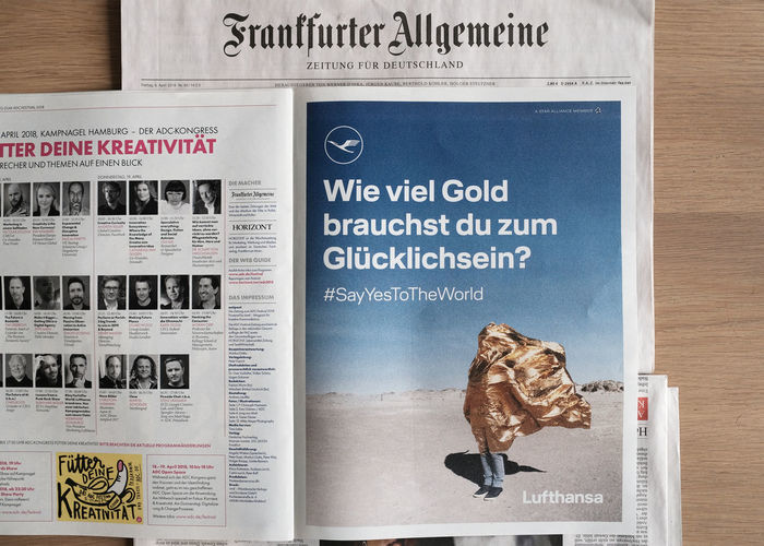 """one of my photos from 2015 as part of Lufthansa's """"say yes to the world"""" campaign :) :) What a friday :D Communication Human Representation Message Newspaper Representation"""