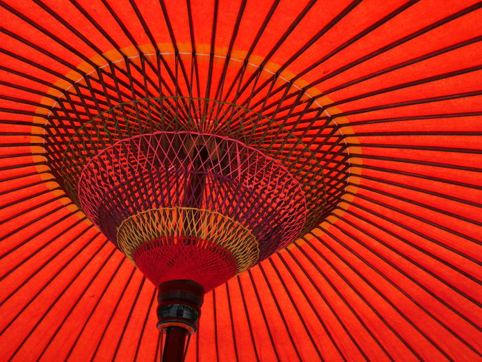 Japan Photography Japanese Culture Japanese Style Red Redhead Close-up Full Frame Low Angle View No People Parasol Pattern Red Textured  Umbrella