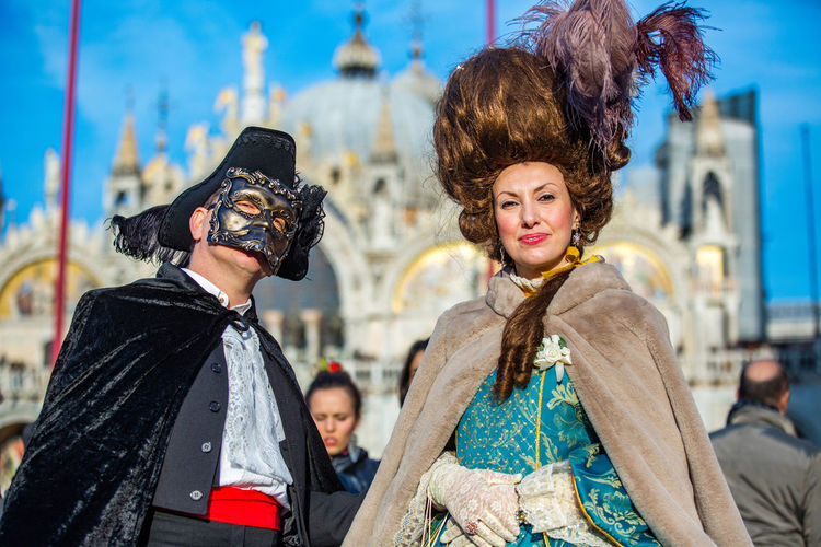 Carnival Carnival In Venice Adult Adults Only Bonding Carnival Costumes Celebration City Costumes Day Happiness Looking At Camera Mask Only Women Outdoors People Portrait Smiling Standing Togetherness Two People Young Adult Young Women