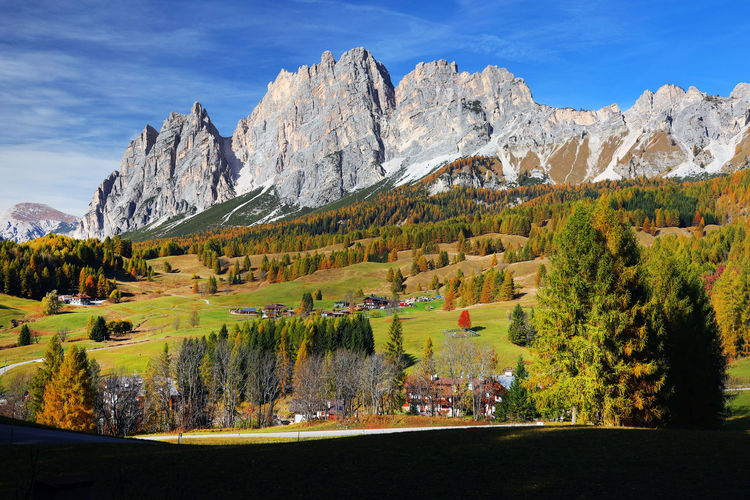 Scenic view of landscape against mountains