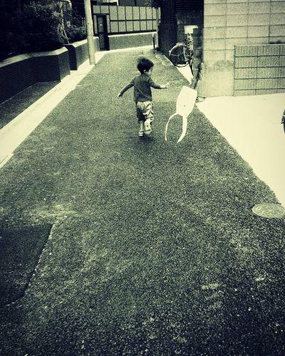 Kids Bambino 少年 道 Street Strada Momento Monochrome 淡い 想い出 Tokyo