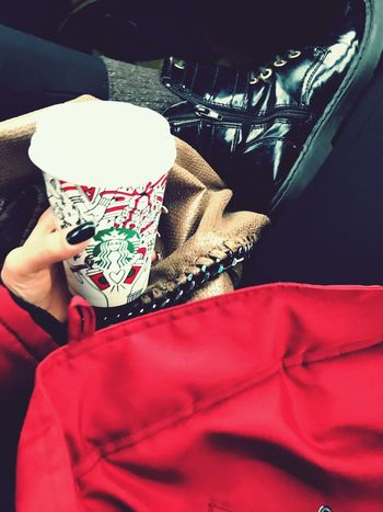 Starbucks moments ☕️♥️ First Eyeem Photo Coffee First EyeEm Selfmade Warm Clothing Starbucks Coffee Coffee To Go Kahve Coffee Cup Coffee - Drink Red Coffee ☕ Shoes Shoes Of The Day Blogger Drink Blogg Blog