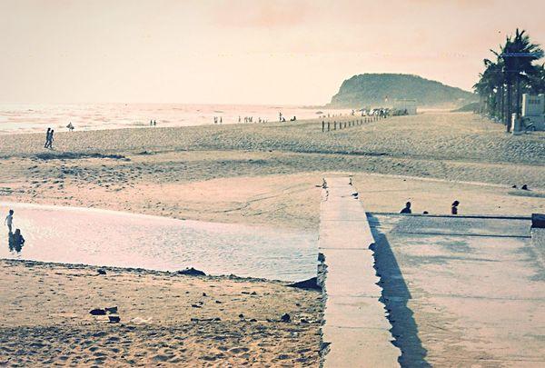 Beach Mazatlan Sinaloa Arena Profundidade Cerro Planogeneral Panoramic Mar Playa Perspectives