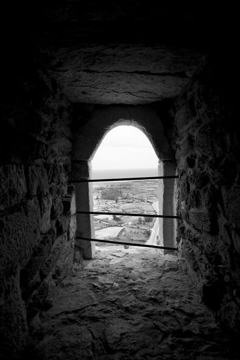 Arch Architecture Archway Black & White Black And White Built Structure Castle Cave Dark Darkness And Light Day Fort History Indoors  Italia Nature No People Old Ruin Prison Sardegna Sardinia Sky Tunnel Water Window