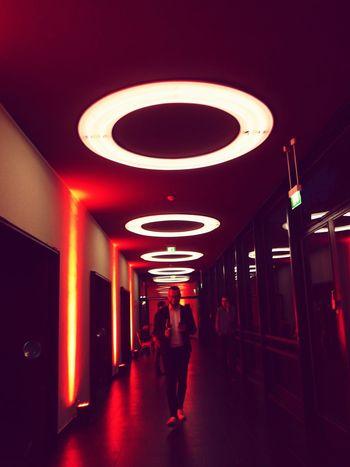 Illuminated Walking Indoors  Real People Architecture Full Length Night