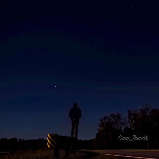 Starry night Yellow Night Nightlights Nightphotography D5600 Nikon Nightlight Night Star - Space Space Astronomy Sky Star Field Star Scenics - Nature Nature Galaxy Real People Beauty In Nature One Person Tranquility Constellation Low Angle View Silhouette Space And Astronomy