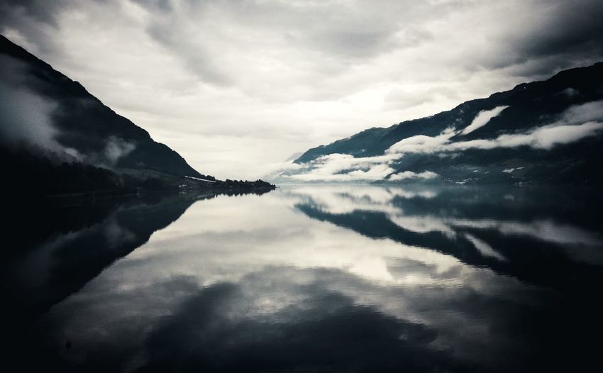 Silencio Norway Fjord Landscape Clouds Cloudscape Clouds And Sky Water