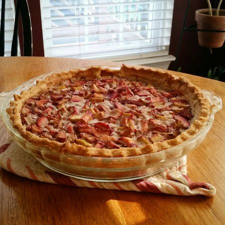 My Hobby baking pies. My favorite, strawberrie rhubarb
