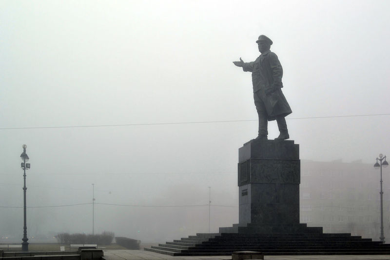 Monument to Sergey Kirov, Kirovskaya square, Saint Petersburg, Russia Architecture Built Structure City Day Fog Foggy Kirovskaya Square Men Monument Monument To Sergey Kirov One Man Only One Person Outdoors People Russia Saint Petersburg Sculpture Sergey Kirov Sky Standing Statue The Architect - 2017 EyeEm Awards EyeEm Selects