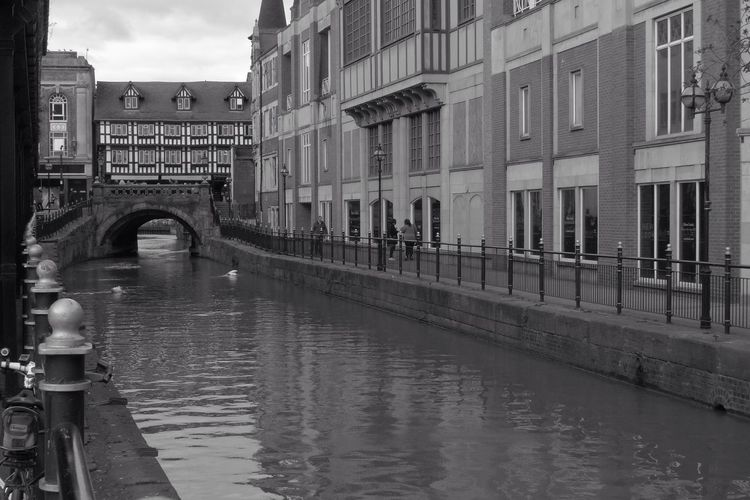 Canal by buildings
