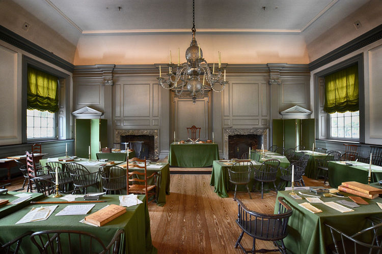 Independence Hall Seat Table Chair Indoors  Furniture Absence Window Architecture No People Empty Wood - Material Lighting Equipment Restaurant Day Business Ceiling Luxury Wealth Built Structure Domestic Room Setting Independence Hall